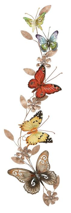 Metal Wall Butterflies Decoration