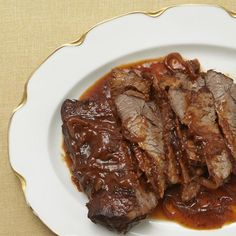 """Wine-Braised Beef Brisket 