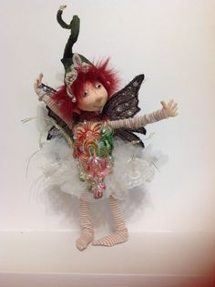 Another fun fairy by Jill Maas. Love the hat and freckles.