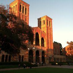UCLA Royce Hall at dusk