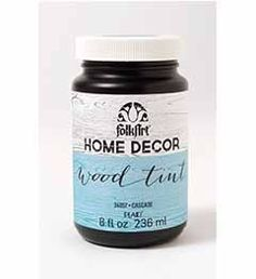 FolkArt Home Decor Wood Tint, 8 oz. FolkArt Home Decor Wood Tints are fast-drying and add beautiful color to unfinished wood. The trend-right, decorative colors are designed to be applied on wood surfaces as a permanent finish. Water-based; non-toxic. Easy cleanup with soap and water. Find it here: http://hofcraft.com/folk-art-chalk-paint-home-decor.htm#woodtint