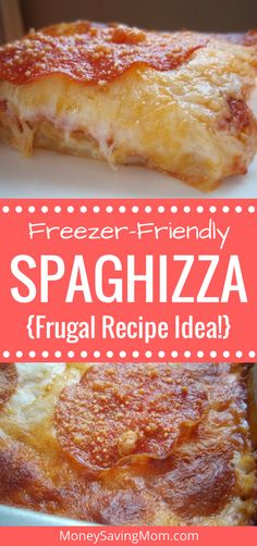 This budget-friendly, freezable recipe is a favorite at our house! It's a unique twist on pizza and spaghetti that's simple to put together and can be made up ahead of time. I often serve this when we have company with small children... and it always goes over well.