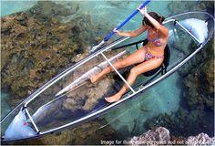 WANT!! Vue Transparent Double Kayak - Bay Kayaks Sydney