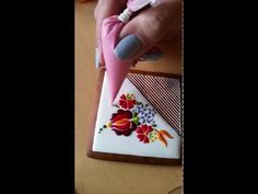 The Detail And Design On These Embroidered Cookies Are UNREAL, Now Watch How She Makes Them...
