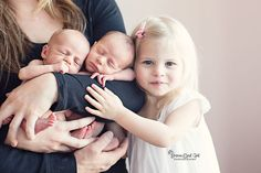 Image result for twins newborn photography with older sibling