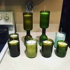 Did the first #pour on these #wine #bottle #candles tonight. Going to finish them tomorrow for and ship them out to our #etsy #customers. #winewednesday #winenight #winetime #handmade #candlelove #candlelover #candlemaker #etsylove #etsylife #etsysellersofinstagram #etsyseller