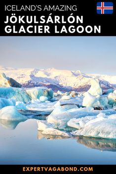 Jökulsárlón glacier lagoon in Iceland is full of broken icebergs, streaked blue and black while floating with the tide. Here are my tips for visiting! Europe Travel Outfits, Europe Travel Tips, European Travel, Travel Guides, Travel Plan, Travel Info, Europe Destinations, Amazing Destinations, Iceland Travel Tips