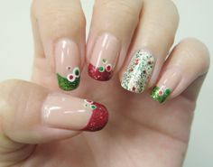 Christmas Bubble Nails (reminds me of Targets holiday decor!) | - Christmas Nail Art
