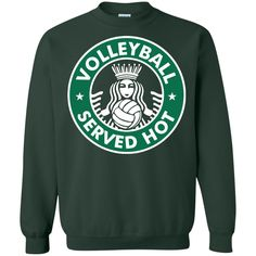Volleyball Served Hot - Great Volleyball Player Pullover Sweatshirt - Teeever.com