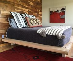 """We wanted a modern platform bed made from slab wood about 3"""" thick. These were impossible to find for purchase without spending many thousands of dollars. So what the heck, it can't be that hard to build a bed frame - right?As it turned out this was an easy project, only made somewhat more difficult by the weight of the wood I chose to use, which resulted in a bed weighing about 275lb and which I therefore had to build in such a way that it can be easily disassembled for transportation. ..."""