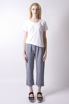 Cabrio Steel Linen Trousers   Humanoid