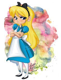 Alice in Wonderland by *RuthMcGleish on deviantART Disney Fan Art, Disney Love, Disney Magic, Disney Pixar, Lewis Carroll, Alice In Wonderland 1951, Inspiration Artistique, Disney Cartoons, Chibi