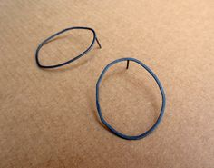 Battered+Circle+Silver+Earrings+by+Laminar+on+Etsy,+$22.00