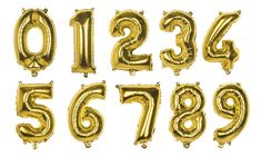 by TheBalloonSource Gold Number Balloons, Mylar Balloons, Latex Balloons, Baby Shower Decorations, Wedding Decorations, Nye Party, Party Wedding, Natural Rubber Latex, Gold Letters
