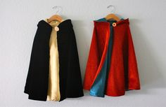 reversible hooded capes | MADE Mother Gothel and Flynn Rider!