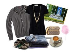 """""""Monday"""" by jcrewcloset ❤ liked on Polyvore featuring American Vintage, Charlotte Russe and Coach"""