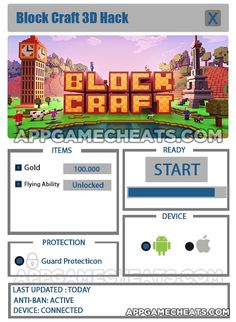 Block Craft 3D Hack, Cheats, & Tips for Gems & Flying Ability Unlock  #Arcade #BlockCraft3D #Strategy http://appgamecheats.com/block-craft-3d-hack-cheats-tips/