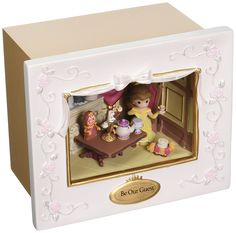 Precious Moments Disney Showcase Collection Be Our Guest Deluxe Music Box LED Lights Resin 163103 -- Read more at the image link. (This is an affiliate link) #HomeDecorAccents