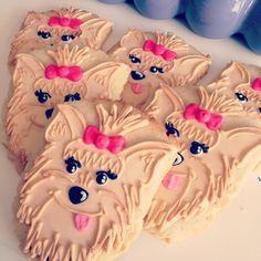 Yorkie cookies By HayleyCakes and cookies in Austin. Texas.