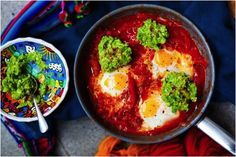 Eggs are for Easter – but they don't have to be chocolate! Try our Huevos Rancheros with Guacamole – the perfect brunch for the bank holiday weekend. Whole 30, Guacamole, Hemsley And Hemsley, Huevos Rancheros, Cooking Recipes, Healthy Recipes, Healthy Breakfasts, Paleo Meals, Healthy Meals
