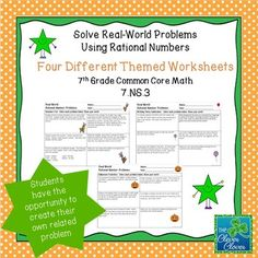 Rational Numbers - Station Activity | Math Madness: Middle School