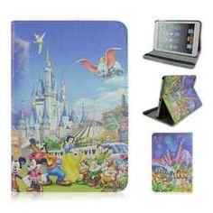 New Cartoon Disney design PU Leather case cover for Apple Ipad mini & mini2