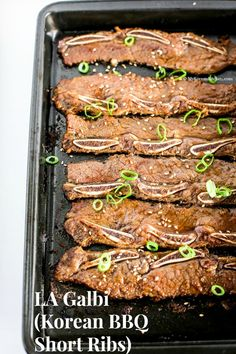 LA Galbi (Korean BBQ Short Ribs) | MyKoreanKitchen.com