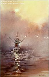 Morning at Sea by watercolor artist Nita Engle available from Snow Goose Gallery