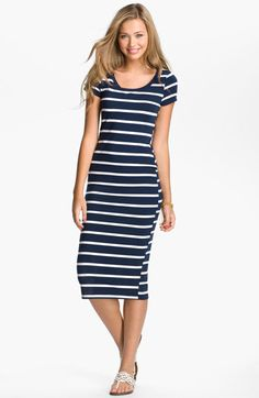 Lush Nautical Stripe Midi Dress (Juniors) available at #Nordstrom