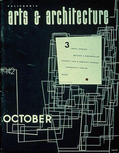 Arts And Architecture Magazine Covers by Ray Eames-
