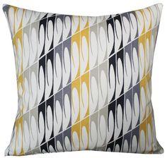 Scion Mistral Fabric Yellow Grey Black Retro 50s Decor Pillow Cushion Cover 45cm | eBay