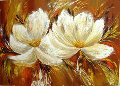 flore pintadas con espatula - Buscar con Google