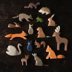 The Ostheimer Forrest animals have been living in our cabinet for many months and now they are finally online in our tiny toy section! More animals to follow! I and my boys love these handmade wooden treasures! #Ostheimer by mamaowl_