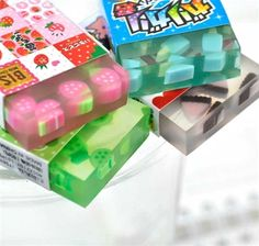 Food Erasers - Ice Candy Erasers | CoolPencilCase.com