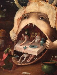 Closeup from The Vision of Tondalys by Hieronymus Bosch