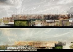 Section THE HUG – Otaniemi Central Campus of AAl to University by MenoMenoPiu Architects