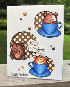 Your Next Stamp - Hammie Coffee and Tea stamp set, Circles die set, Love Me Some Latte Gumdrops