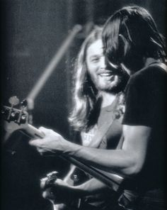 David Gilmour & Roger Waters probably around the Animals period