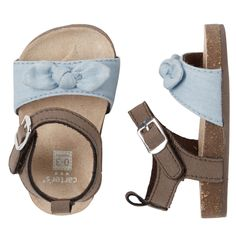 Carter's Knot Bow Crib Sandals