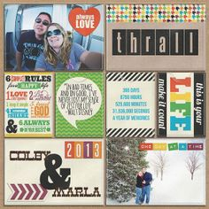 I like to do my title page near the end of the year, so I can use my favorite pictures.I really like the 6 simple rules card and that Walt ...