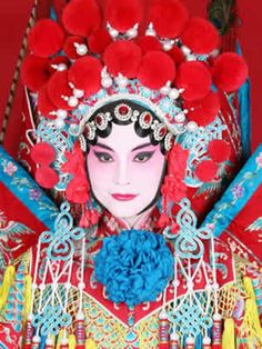 A finely dressed female lead character at Beijing Opera