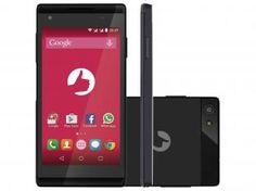 "Smartphone Positivo Selfie S455 8GB Dual Chip 3G - Câm. 5MP + Selfie 8MP 4.5"" Quad-Core Android 5.0"