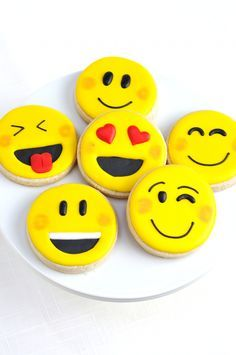 Emoji Party Cookies and Cupcakes