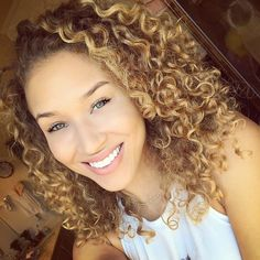 Curls and ombre