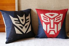 Tong qu animated cartoon  pillow OPTIMUS PRIME Autobots Transformers movies  cotton and linen pillow cushion sofa cushion on Etsy, $17.79 CAD