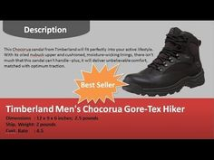 Timberland Men's Chocorua Gore Tex Hiker Review  my website: http://www.azarena.net/  Timberland Men's Chocorua Gore-Tex Hiker Noir Description:  This Chocorua sandal from Timberland will fit perfectly into your active lifestyle. With its oiled nubuck upper and cushioned, moisture-wicking linings, there isn't much that this sandal can't handle--plus, it will deliver unbelievable comfort, matched with optimum traction.