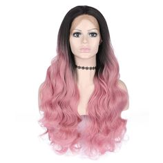 For More Beautiful Hair Pink Ombre Hair, Pink Wig, Synthetic Lace Front Wigs, Synthetic Wigs, Easy Updos For Medium Hair, Long Hair Wigs, Silk Hair, Natural Hair Styles, Long Hair Styles