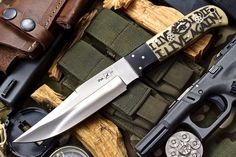 CFK USA Custom Handmade D2 MAD MAX'S WAR BOYS Scrimshaw Art Hunting Bone Knife | eBay