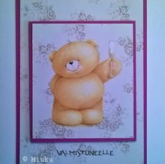 Card for graduated. Friends Forever, Champagne, Teddy Bear, Stamp, Toys, Cards, Handmade, Animals, Activity Toys