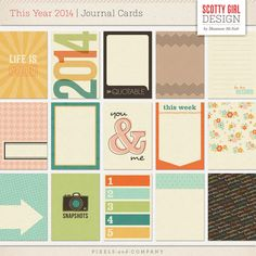 This Year 2014 Journal Cards - plus lots of other cool designs!
